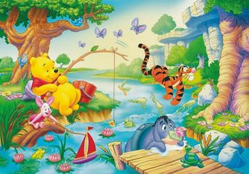 Winnie the Pooh with friends - Winnie the Pooh is a fictional character from children's literature created by the British writ