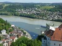 Passau folyók: Fogadó, Donau, Ilz.