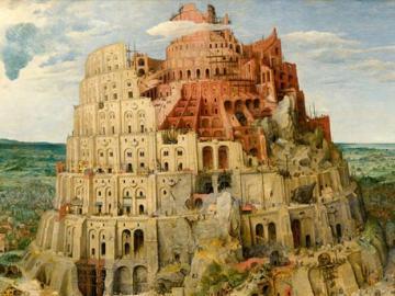 Tour de babel - puzzle - image tour de Babel par Pieter Bruegel