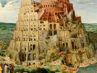 Turnul Babel - Turnul Babel. Puzzle- imagine Tower of Babel de Pieter Bruegel. Imagini de puzzle ale Turnului Babel