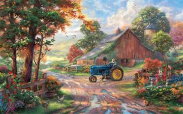 Thomas Kinkade. Village.