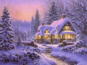 it was snowing - Landscapes. It was snowing.