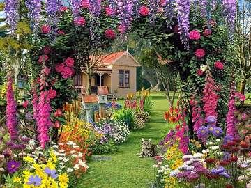 A colorful picture. - Landscapes. A colorful picture.