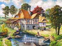 Watermill. - Landscapes. Watermill.