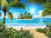 Táj egy szigeten