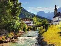 Urlaub in Bayern. - Berglandschaft Bayerische Atmosphäre