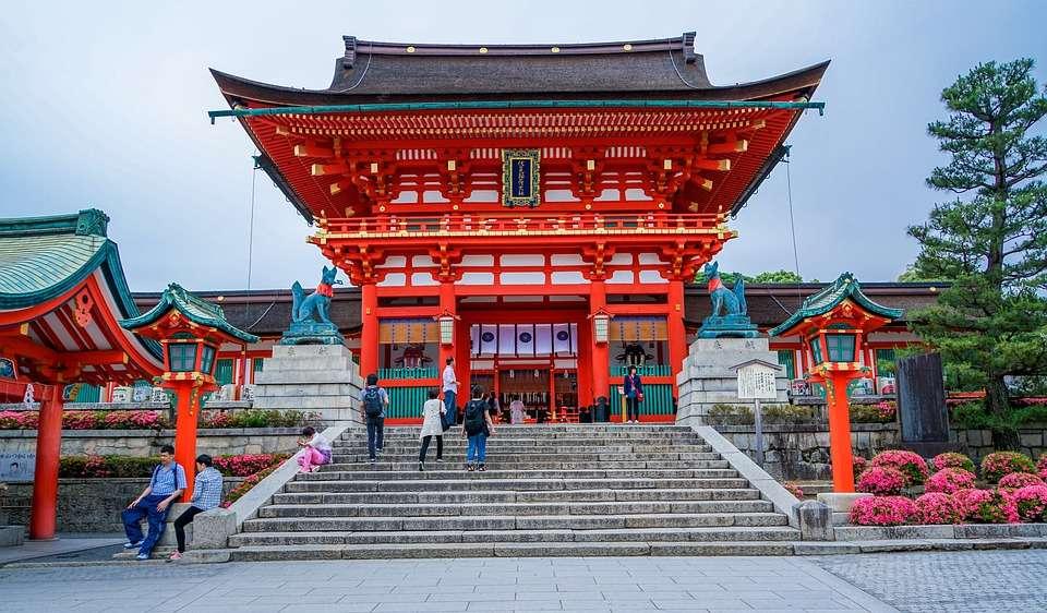 Fushimi Inari-schrijn. legpuzzel