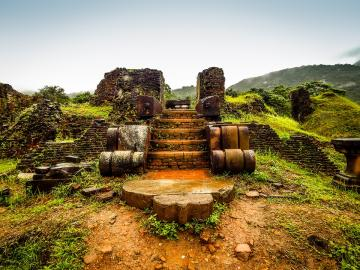 Ruins of a temple in Vietnam. - Ruins of a temple in Vietnam.