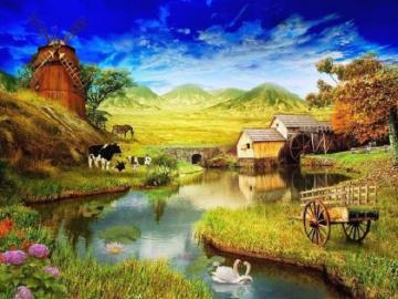 Rural picture. - Rural farm.