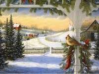 ζωγραφική - Ζωγραφική - Χειμερινό τοπίο.