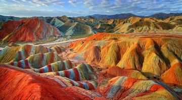 colorful mountains - colorful mountains, landscape