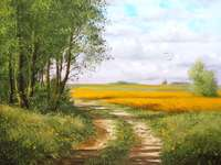 pintura - Pintura. Paisaje de verano