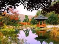 jardim coreano - Nami Island é um jardim coreano