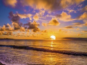 puesta de sol - Atardecer tras el mar.