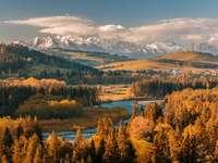 Herfst in het landschap - Herfst in een berglandschap.