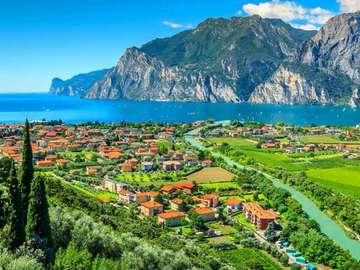 Italian landscape. - Italian landscape .....