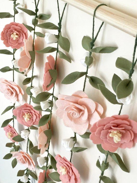 Virág dekoráció - Dekoráció akasztani a virágok (3×10)
