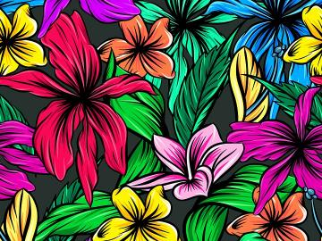 Colorful flowers .