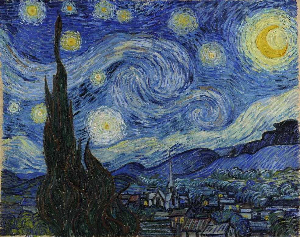 Noaptea înstelată - Puzzle al nopții înstelate a lui Van Gogh (3×4)