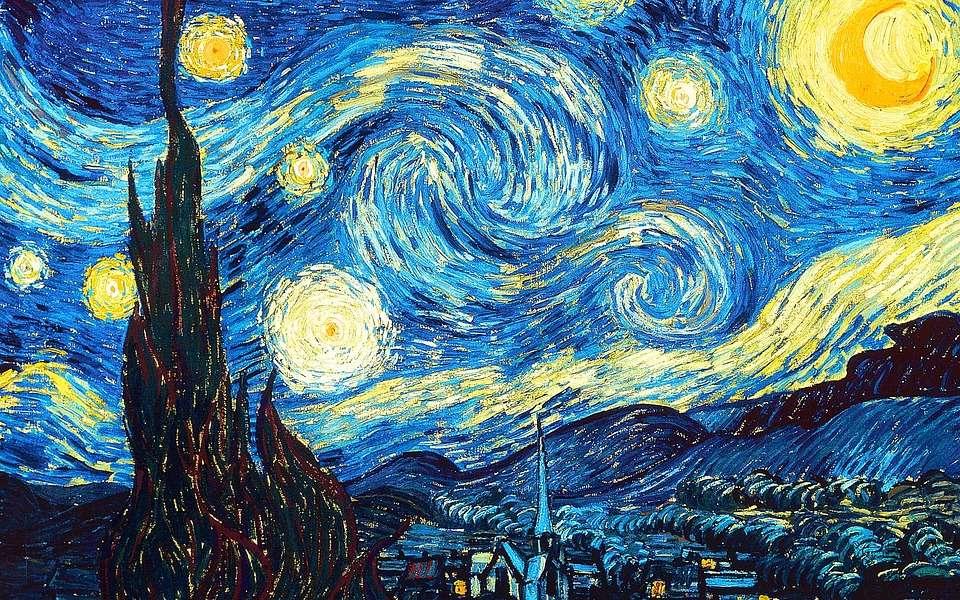 Noite estrelada - Noite Estrelada Van Gogh em 12 peças (5×3)