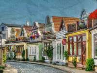 malerische Strasse - Malerische Straße einer Kleinstadt
