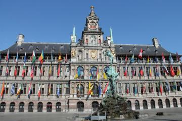 ANTWERP - from a trip around Belgium, the town hall in Antwerp