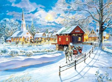 Winter town - A winter town in the morning