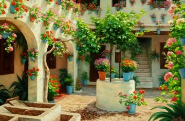 summer inspirations - summer inspirations, a patio in flowers, a charming place