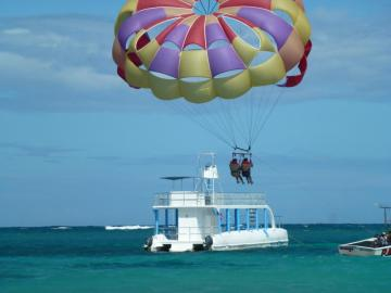 parasailing - because sometimes you have to fly :)