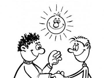 přátelství - na slunci nebo na sněhu, vždy přátelé pro ty, kteří věří