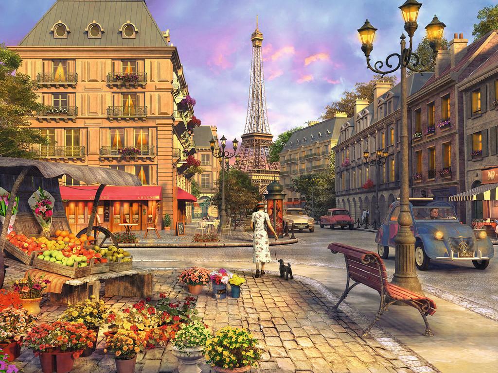 Na paryskich ulicach - Francja. Na paryskich ulicach (10×10)