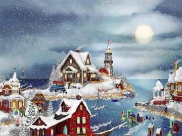 Zima jak w bajce - Zimowe miasteczko nad zatoką