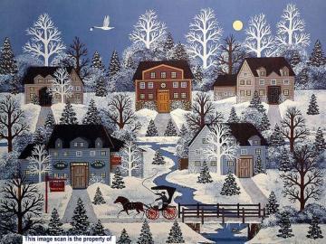 Χειμερινή ώρα - Jane Wooster Scott, λαϊκή ζωγραφική