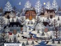 Ora de iarnă - Jane Wooster Scott, pictură populară
