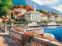 On Lake Como. - Europe. Italy. Lake Como.