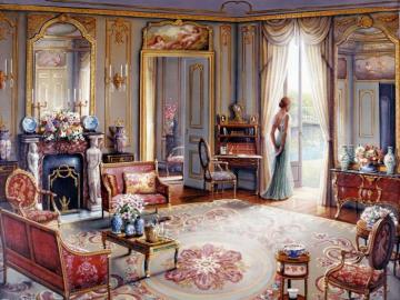 Charming interior.