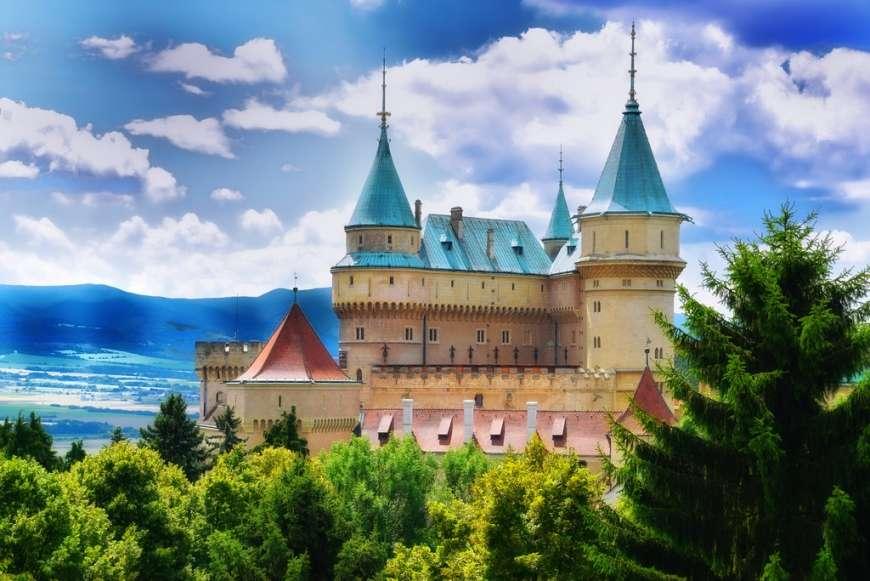 Замъкът Божнице - Замъкът Божнице, Словакия, пейзаж (9×9)