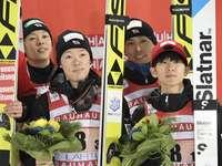 Time japonês - a equipe japonesa ficou em 3º lugar