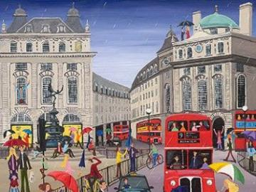 Der Piccadilly Circus in Londo