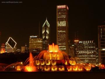 Fuente de Buckingham - Fuente de Buckingham en el centro de Chicago