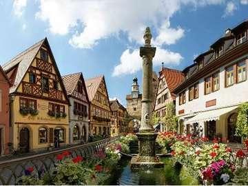 Bawaria. - Europa. Niemcy. Krajobraz Bawarii.
