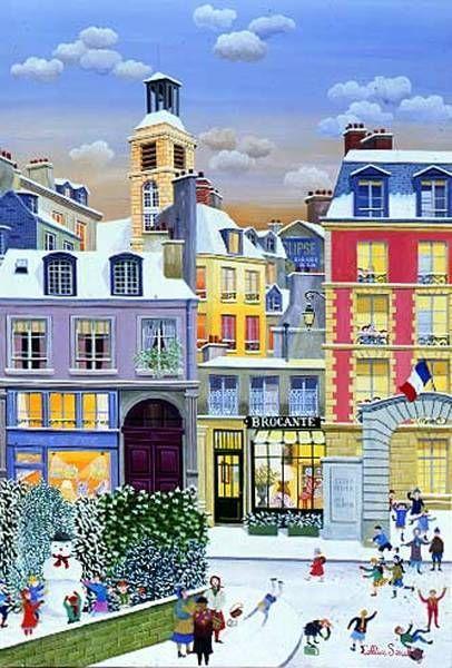 winter in the city - Winter fun in Paris, illustration (10×15)