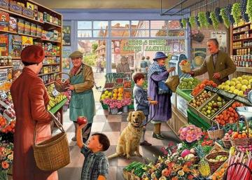 In the vegetable store - illustration in a vegetable store
