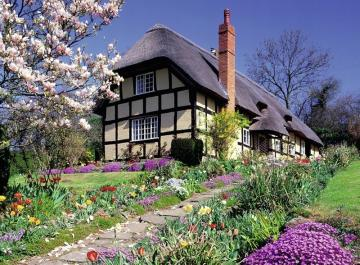 English country house. - Europe. English country house. Building. English country house. English country house