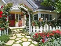 huis met een tuin