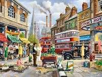 provoz - Anglický silniční provoz, ilustrace