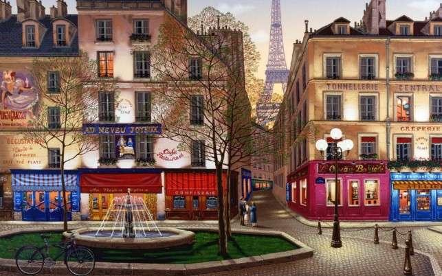 In Paris at dusk - <In Paris at dusk.> (10×9)