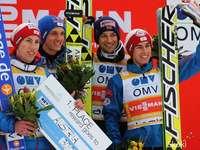 Equipe austríaca - equipe da Áustria kraft e colegas