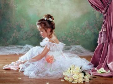 Baletniczka. - Landschaft. Kleine Ballerina
