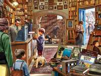 Interno della libreria.